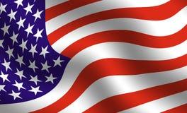 американский флаг детали иллюстрация вектора