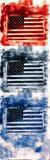 американский флаг знамени иллюстрация вектора