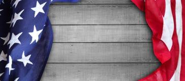 Американский флаг на досках Стоковые Изображения RF