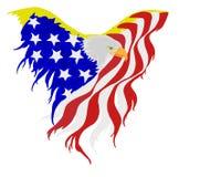 американский флаг облыселого орла иллюстрация вектора