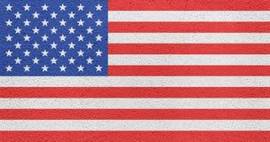 Американский флаг покрашенный на внешней стене Стоковое Фото