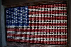 Американский флаг построенный бейсболов стоковые изображения