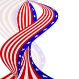 американский флаг предпосылки Стоковые Изображения