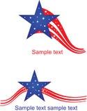американский флаг стилизованный Стоковое Фото