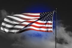 Американский флаг - highligh цвета стоковое фото