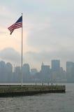 американский флаг New York Стоковые Изображения