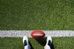 Американский футбол ботинка и шарика Стоковое Изображение RF