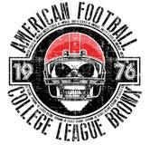 Американский футбол - винтажная печать вектора для sportswear мальчика в c бесплатная иллюстрация