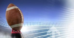 Американский футбол с переходом стадиона Стоковое Фото