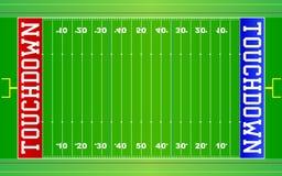 американский футбол nfl поля Стоковая Фотография