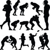 американский футболист Иллюстрация штока