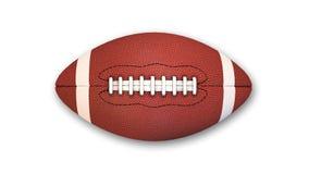 Американский футбол на белой предпосылке, взгляд сверху Стоковое Изображение