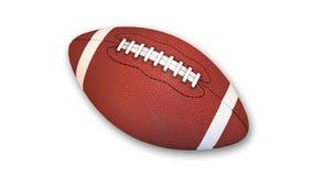 Американский футбол на белой предпосылке Стоковые Изображения RF