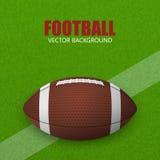 американский футбол Предпосылка вектора Стоковая Фотография RF