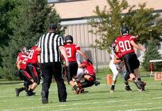 Американский футбол средней школы Стоковые Фото