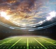 американский футбольный стадион Стоковая Фотография
