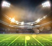 Американский футбольный стадион 3D Стоковое фото RF