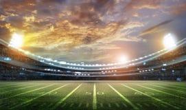 Американский футбольный стадион 3D Иллюстрация вектора
