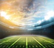 Американский футбольный стадион 3D Стоковые Изображения