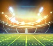 Американский футбольный стадион 3D Стоковое Фото