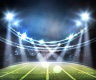 Американский футбольный стадион 3D Стоковая Фотография