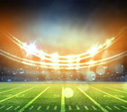 Американский футбольный стадион 3D Стоковые Изображения RF