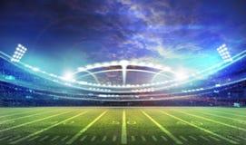 Американский футбольный стадион 3D Стоковая Фотография RF