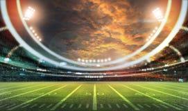Американский футбольный стадион 3D Стоковые Фото