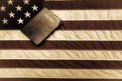 американский флаг библии Стоковое Фото