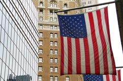 Американский флаг городской Стоковые Изображения