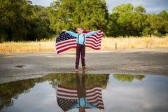 Американский флаг, День памяти погибших в войнах стоковое фото
