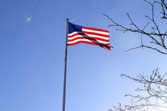 американский флаг играет главные роли нашивки Стоковая Фотография RF