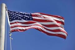 Американский флаг на этап Cabrillo, Сан-Диего Стоковое Изображение RF
