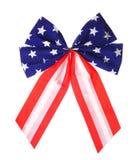 американский флаг Патриотический изолированный смычок Стоковое Изображение