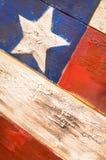 Американский флаг покрашенный на древесине Стоковая Фотография RF