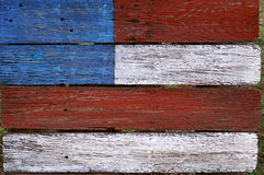 Американский флаг покрашенный на древесине Стоковое Фото