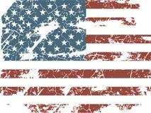 американский флаг старый Стоковое Фото