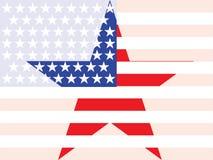 Американский флаг с большой звездой Стоковая Фотография