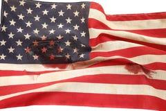 Американский флаг с кровяными пятнами Стоковая Фотография