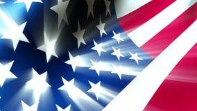 Американский флаг с световыми эффектами - государственный флаг США 0112 HD иллюстрация вектора