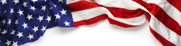 Американский флаг для предпосылка дня ` s Дня памяти погибших в войнах или ветерана Стоковые Изображения RF