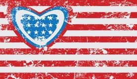Американский флаг grunge Стоковая Фотография RF