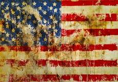 американский флаг grungy Стоковое Изображение RF