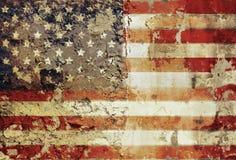 американский флаг grungy Стоковое фото RF