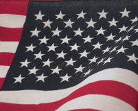 Американский флаг Meghan Стоковая Фотография