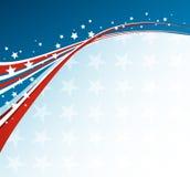 Американский флаг, Vector патриотическая предпосылка Стоковое Изображение RF