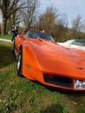 Американский хвостоколовый Корвета автомобиля мышцы Стоковое Изображение