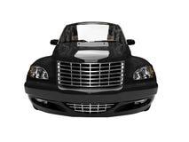 американский черный изолированный автомобиль Стоковое Изображение RF