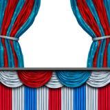 Американский этап пробела политики иллюстрация вектора