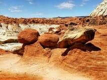 Американский юго-западный, красочный ландшафт пустыни Стоковая Фотография RF